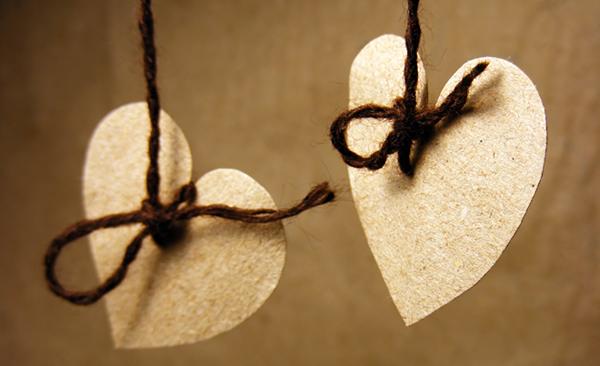 Kraft Paper Hearts