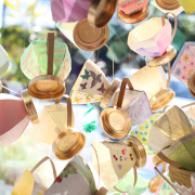 Hand-Crafted Paper Teacups