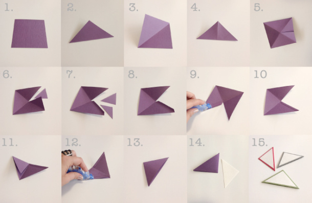 How To Diy Origami Bookmarks Sarbe Invitations Papers: how to make a simple bookmark