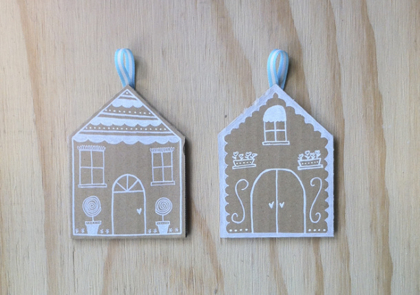 diy: recycled cardboard christmas decorations – sarbe invitations ...