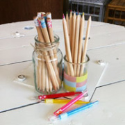 Pencils and Fabric Tape