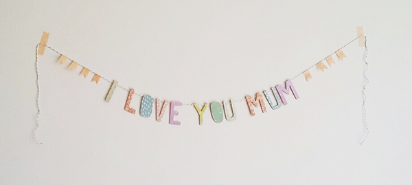 Mothers Day Garland by Papered Thoughts for Dailylike