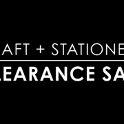 Our final clearance sale!